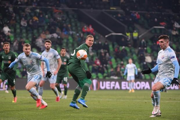 «Краснодар» уступил загребскому «Динамо» в 1/16 финала Лиги Европы