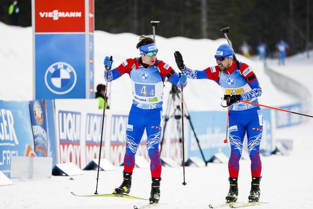 Сборная России завоевала бронзу в мужской эстафете. Это первые медали россиян на ЧМ в Поклюке