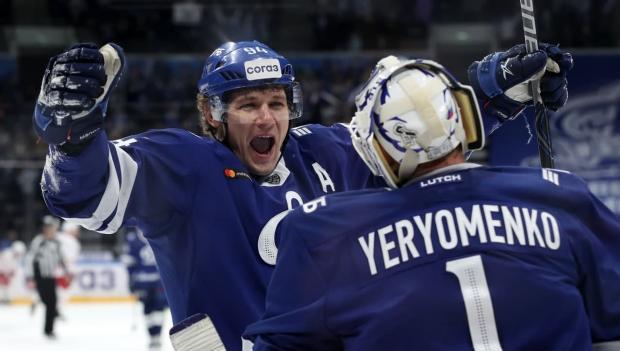 Московское «Динамо» разгромило «Автомобилист», не пропустив ни одной шайбы