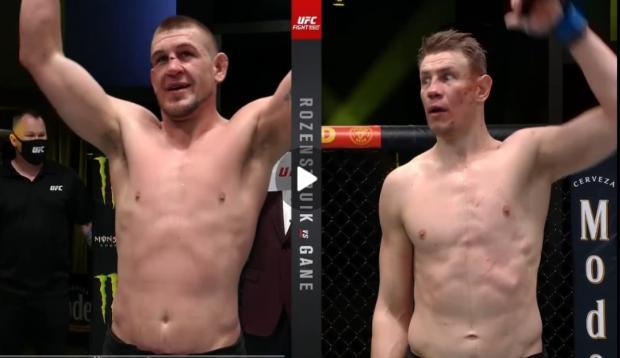Ган разгромил Розенстрайка, Гришина засудили. Главные моменты турнира UFC Fight Night 186 (видео)