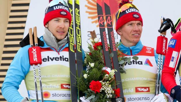Большунов и Ретивых стали бронзовыми призерами чемпионата мира в Командном спринте