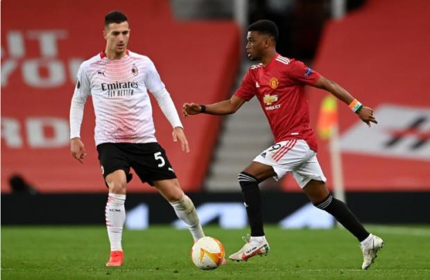 «Манчестер Юнайтед» и «Милан» сыграли вничью в первом матче 1/8 финала Лиги Европы