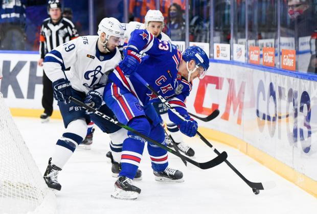 Московское «Динамо» разгромило СКА в первом полуфинальном матче Запада