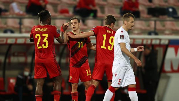 Бельгия разгромила Белоруссию в матче квалификации ЧМ-2022