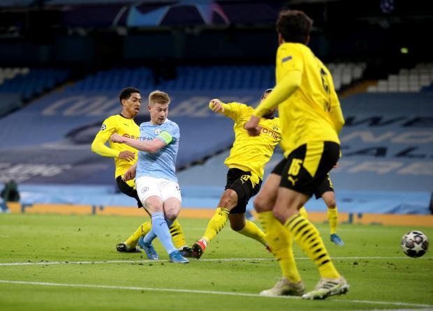 «Манчестер Сити» победил дортмундскую «Боруссию» в первом матче 1/4 финала Лиги чемпионов