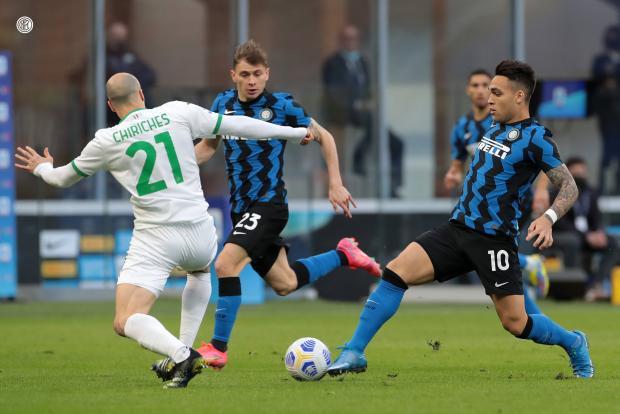 «Интер» дома обыграл «Сассуоло», одержав 10-ю победу подряд в Серии А