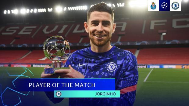 Жоржиньо получил награду лучшему игроку матча «Порту» - «Челси»