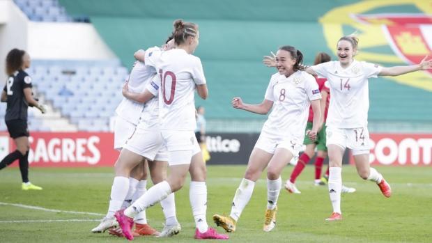 Женская сборная России победила в Португалии в первом стыковом матче за право сыграть на Евро-2022