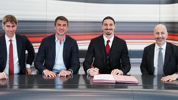 Официально: Ибрагимович продлил контракт с «Миланом» до лета 2022 года