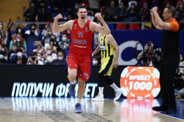 ЦСКА выиграл второй матч четвертьфинала Евролиги с «Фенербахче» (видео)