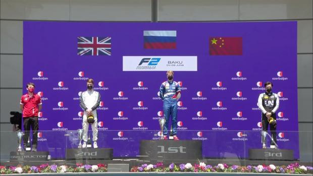 Шварцман выиграл первую гонку на этапе Формулы-2 в Азербайджане