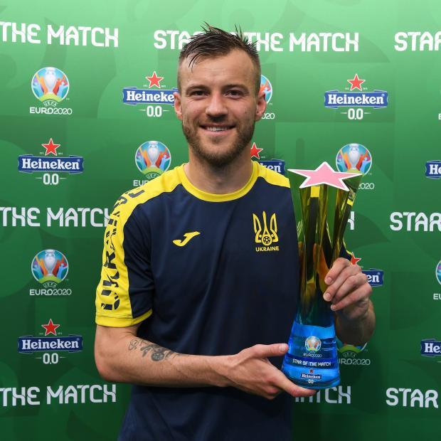 Ярмоленко признан лучшим игроком матча Украина - Северная Македония