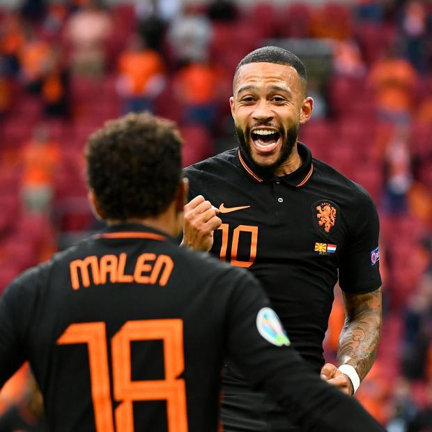Евро-2020. Депай вывел Нидерланды вперед в матче с Северной Македонией