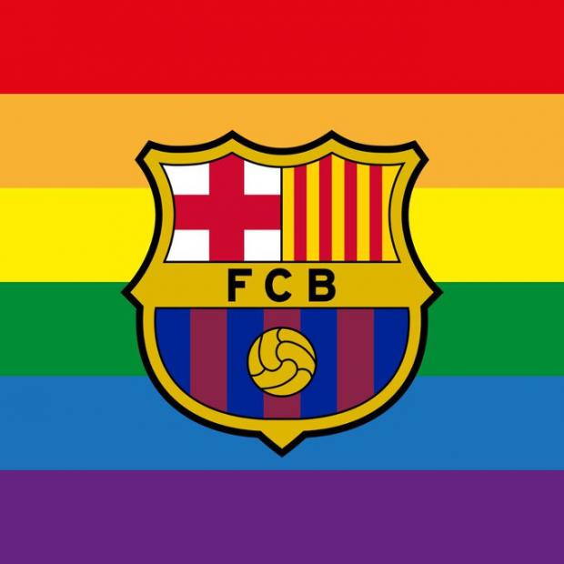 Барселона представила свою эмблему в цветах ЛГБТ (фото)
