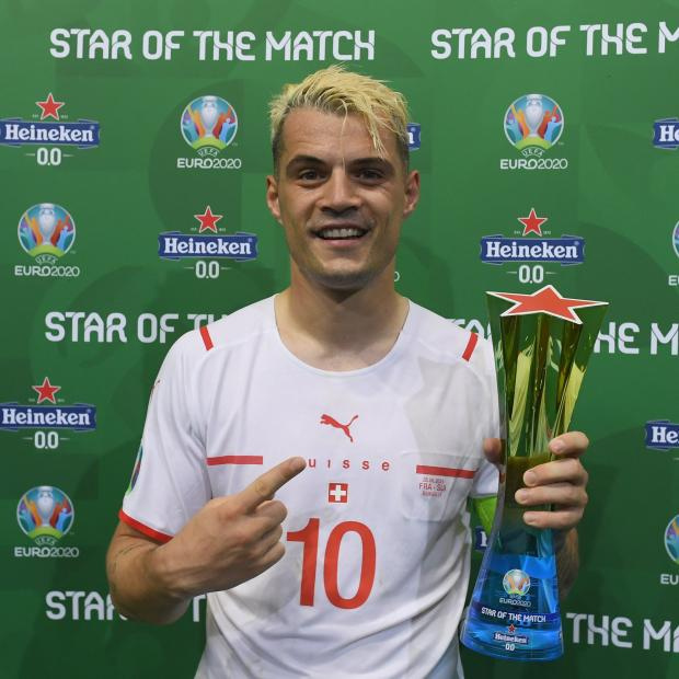 Джака признан лучшим игроком матча Франция - Швейцария в 1/8 финала Евро-2020