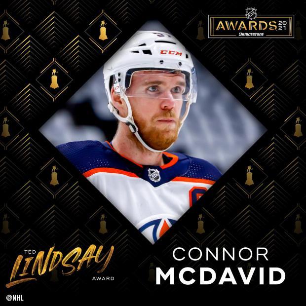 Макдэвид признан лучшим и самым ценным игроком сезона в НХЛ