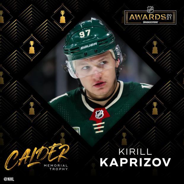 Капризов признан лучшим новичком сезона в НХЛ