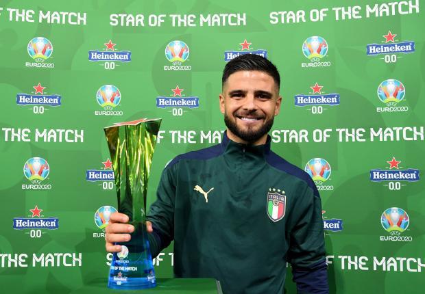 Инсинье признан лучшим игроком матча Бельгия - Италия в 1/4 финала Евро-2020
