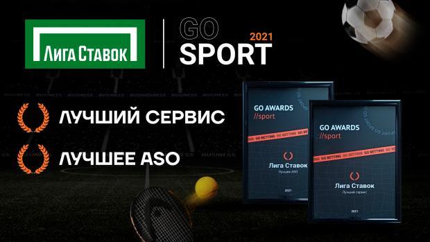 «Лига Ставок» выиграла в двух номинациях на премии Go Sport Awards 2021