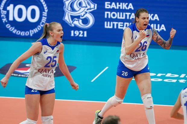 Российские волейболистки вышли в четвертьфинал чемпионата Европы, обыграв команду Белоруссии