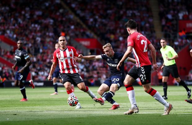 «Вест Хэм» сыграл вничью с «Саутгемптоном» в гостевом матче, Влашич вышел на поле во втором тайме.