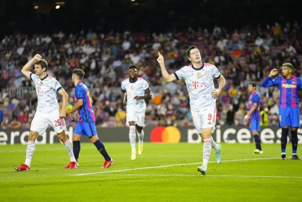 Два гола Левандовски принесли «Баварии» победу над «Барселоной» в гостевом матче Лиги чемпионов