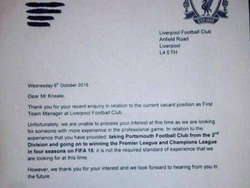 «Ливерпуль» ответил болельщику, который благодаря успехам в FIFA 15 хотел занять место Клоппа