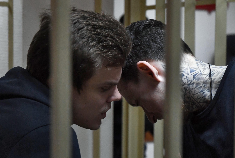 Арест Кокорина и Мамаева продлили еще на шесть месяцев. Как это было (ФОТОРЕПОРТАЖ)