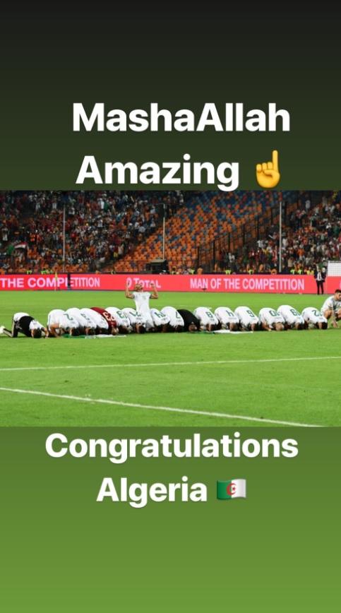 Нурмагомедов поздравил сборную Алжира с победой на Кубке Африки