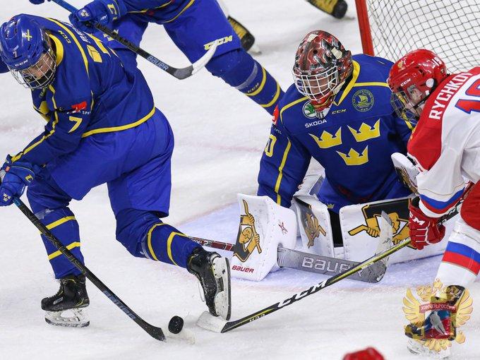 Хоккей. Юниорская сборная РФ вволевом стиле обыграла США наКубке Глинки/Гретцки
