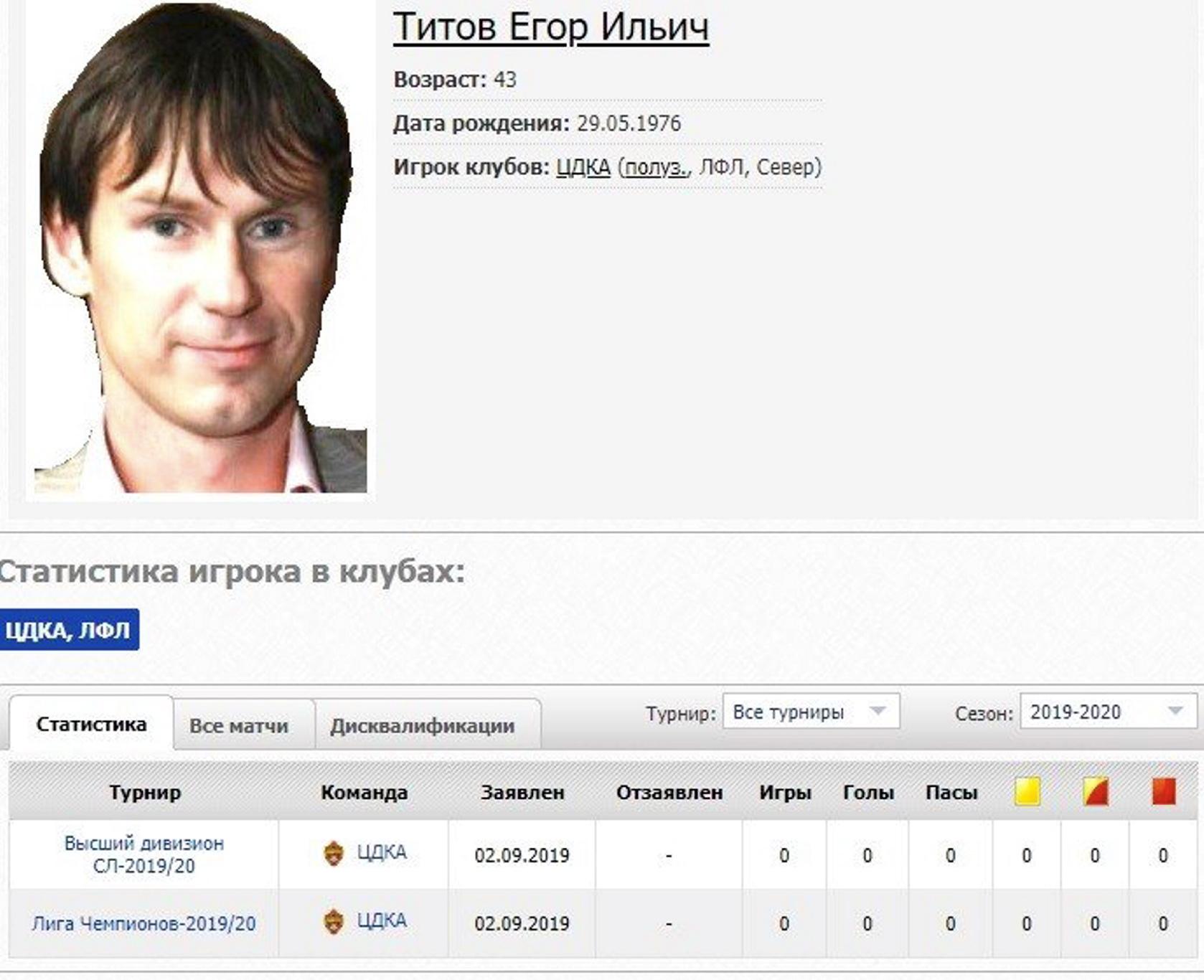 Андрей Каряка: Титова в ЦДКА позвал я