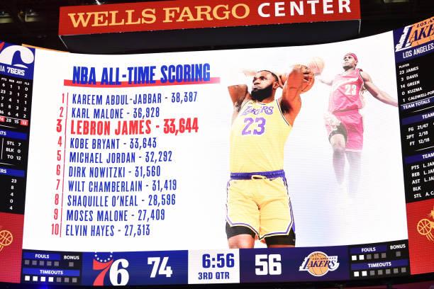 Джеймс вышел на третье место в списке самых результативных игроков НБА
