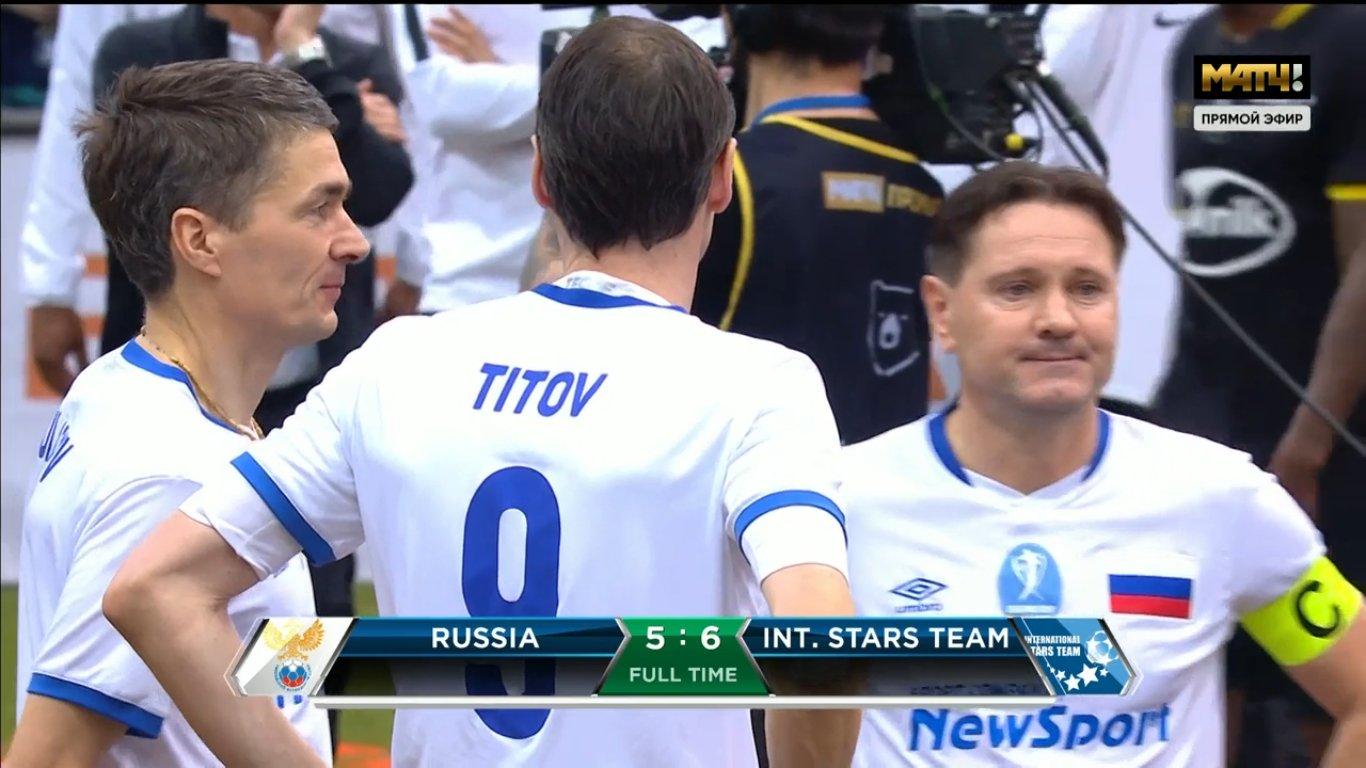 «Или пенальти, и сборная России выиграла». Позорное судейство на Кубке легенд (видео)