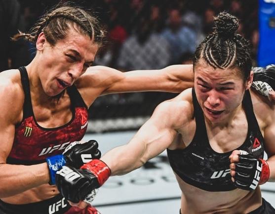 8 марта – день кровавый. На турнире UFC 248 девушки устроили обоюдное избиение (видео)