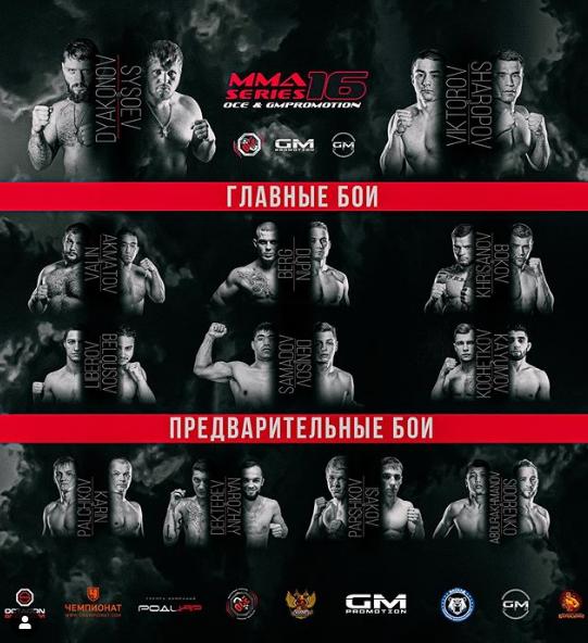 3 октября в Москве пройдет турнир MMA Series 16