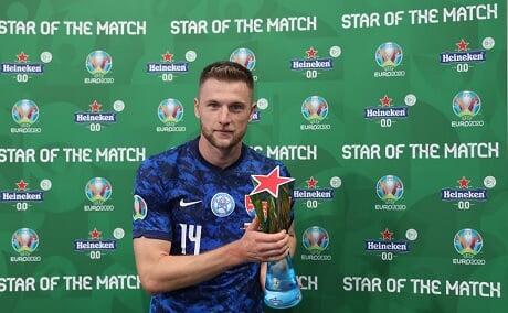 Шкриньяр признан лучшим игроком матча Польша — Словакия