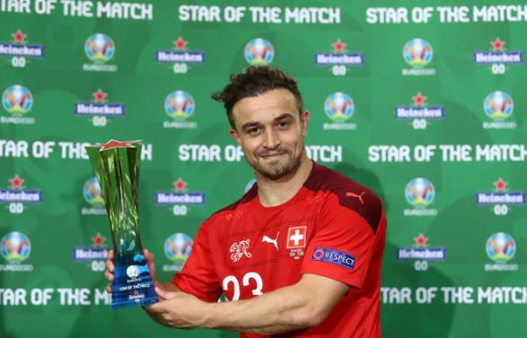 Евро-2020. Шакири признан звездой матча Швейцария - Турция