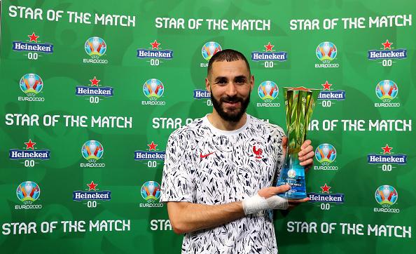 Бензема признан лучшим игроком матча Португалия - Франция